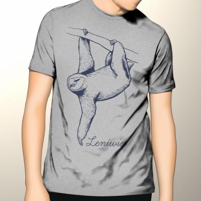 Leniwiec - koszulka męska