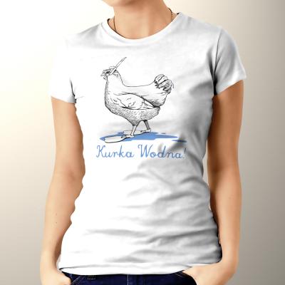 Kurka wodna - koszulka damska